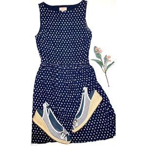 loft navy spring dress